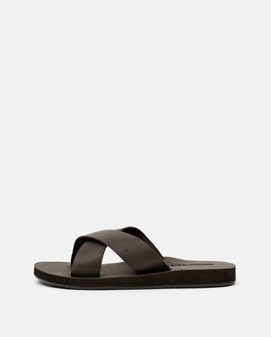 Tmavohnedé sandále Jack & Jones