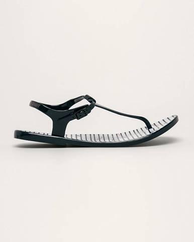 Tmavomodré sandále EA7 Emporio Armani