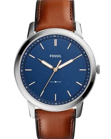 Tmavomodré hodinky Fossil