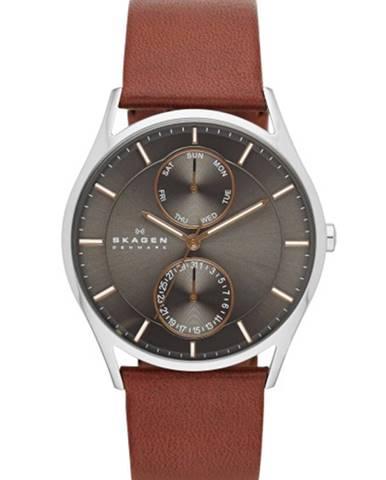 Hnedé hodinky Skagen