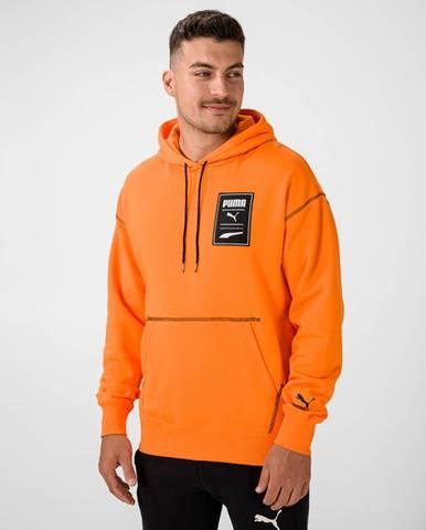 Oranžová bunda s kapucňou Puma