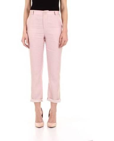 Ružové chino nohavice Angela Davis