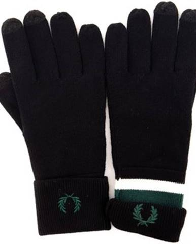 Čierne rukavice Fred Perry