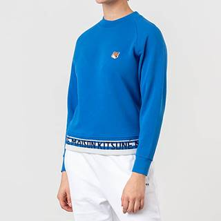 MAISON KITSUNÉ Fox Head Patch Jacquard Sweatshirt Blue