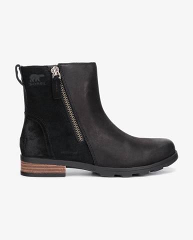 Čierne členková obuv Sorel