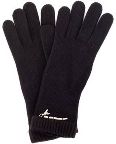 Čierne rukavice Patrizia Pepe