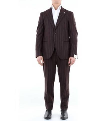 Hnedý oblek Luigi Bianchi Mantova