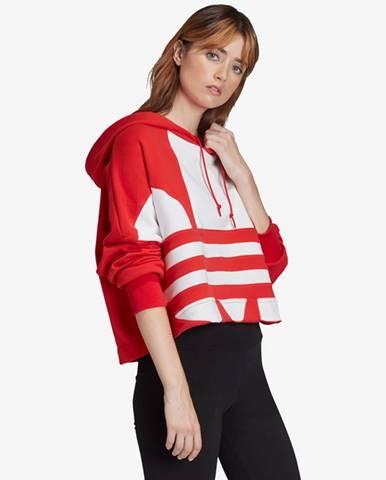Červená mikina s kapucňou adidas Originals