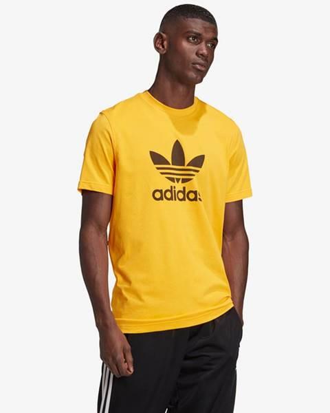 Žlté tričko adidas Originals