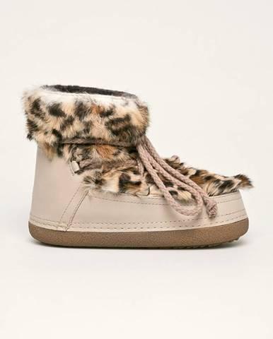 Béžové zimná obuv Inuikii