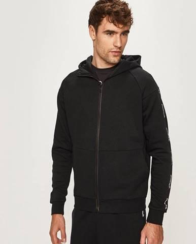 Čierna bunda s kapucňou Hummel