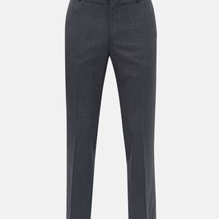 Burton Menswear London Tmavomodré kockované tailored fit nohavice Burton Menswear London