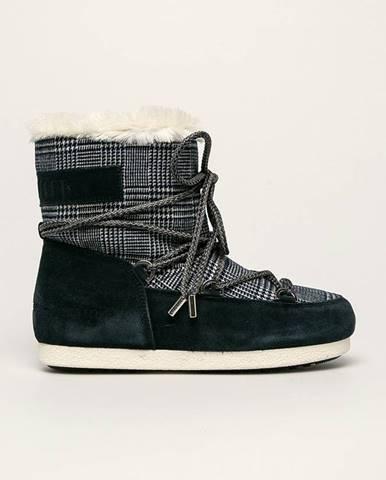 Tmavomodré zimná obuv Moon Boot