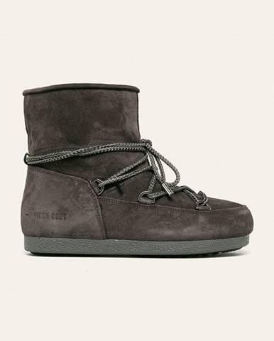Sivé zimná obuv Moon Boot