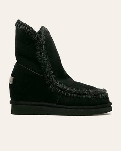 Čierne zimná obuv Mou