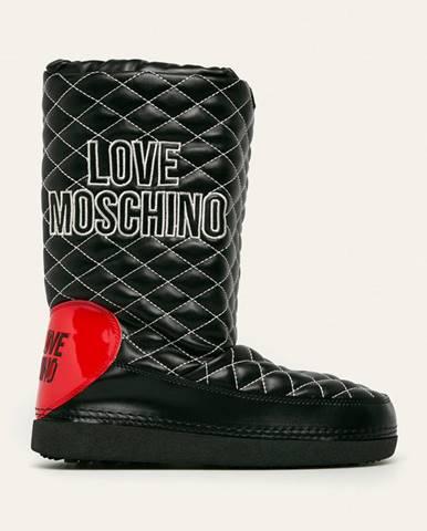 Čierne zimná obuv Love Moschino