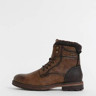 Hnedé pánske členkové vodeodpudivé topánky Tom Tailor