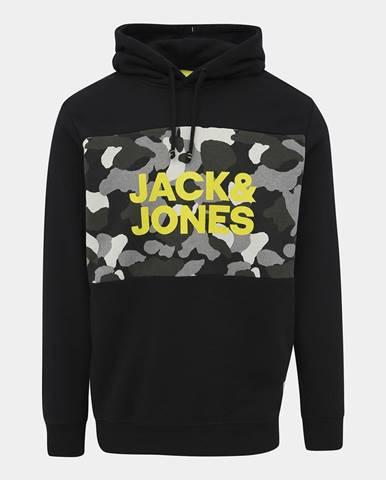 Čierna bunda s potlačou Jack & Jones