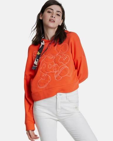 Oranžová mikina Desigual