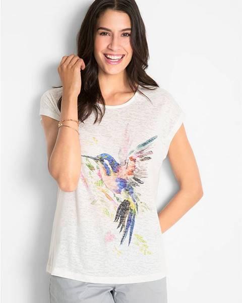 bonprix Tričko s potlačou vtáka
