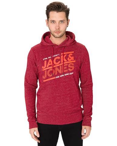 Červená bunda s kapucňou Jack & Jones