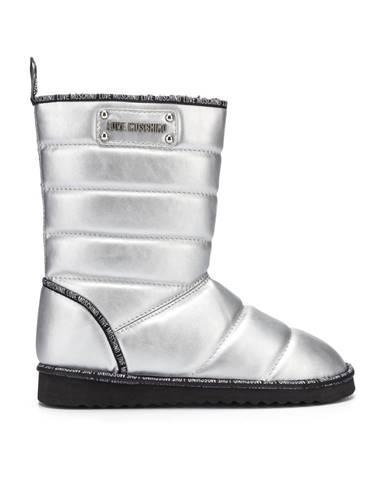 Strieborné zimná obuv Love Moschino