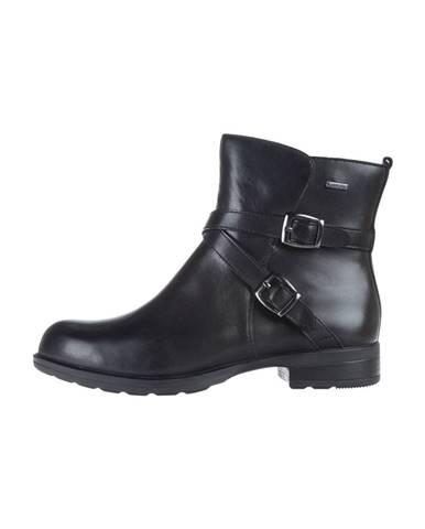 Čierne členková obuv Clarks