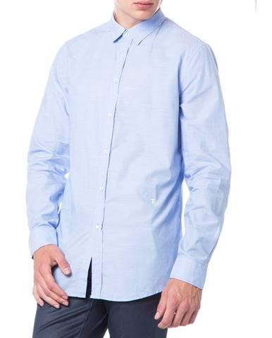 Modrá košeľa Trussardi Jeans