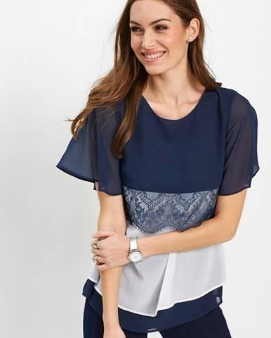 Blúzkové tričko s čipkou