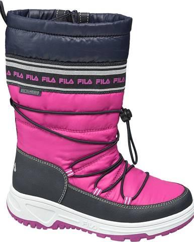 Modré zimná obuv Fila