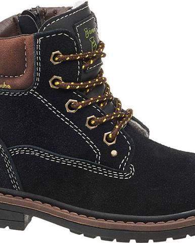 Čierne členková obuv Bobbi-Shoes