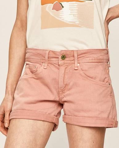Ružové šortky Pepe jeans