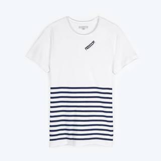 Pruhované tričko s potlačou