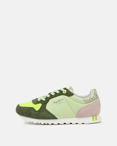 Zelené tenisky Pepe jeans
