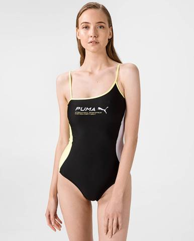 Čierne jednodielne plavky Puma
