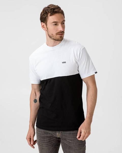 Vans  Vans Colorblock Tričko Čierna Biela