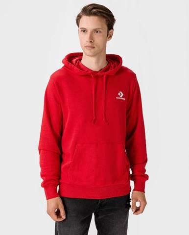 Červená bunda s kapucňou Converse