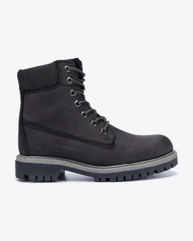 Čierne členková obuv Tom Tailor